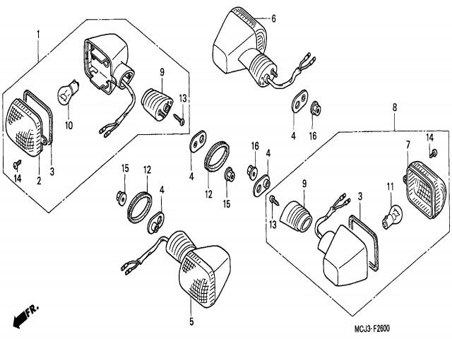 Intermitente Delantero Derecho Honda Cbr Cc