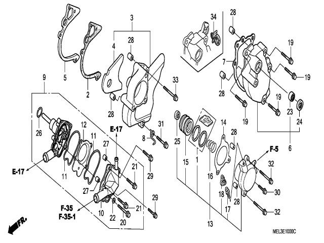 tapa caja de cambios honda cbr 1000 rr 2004 2005 Suzuki Bandit Series