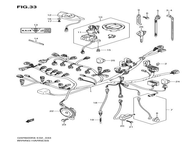 sistema electrico completo suzuki gsr 600 2006