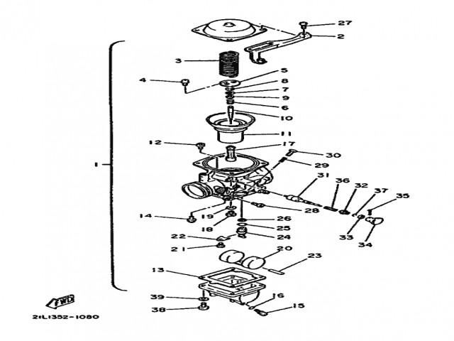 bateria carburadores yamaha sr 250 1980