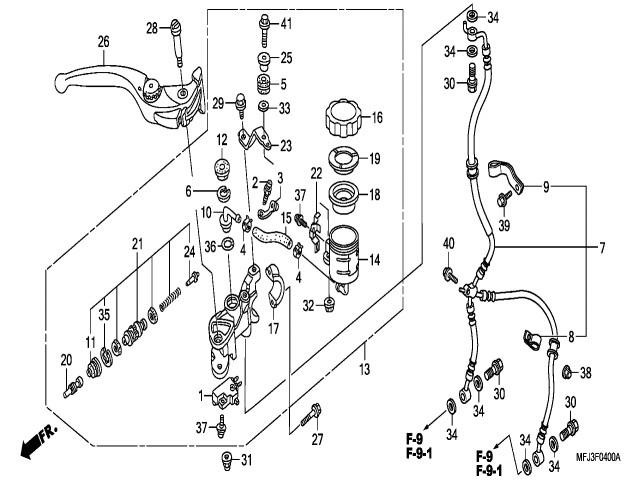 Bomba Freno Delantero Honda Cbr 600 Rr 2007