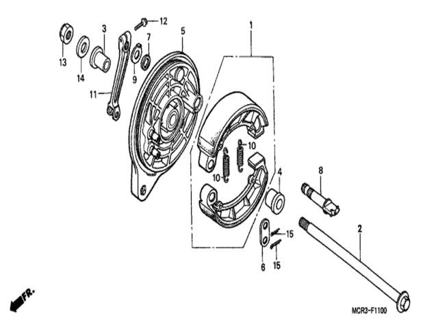 eje rueda trasera honda vt 750 dc shadow 2005