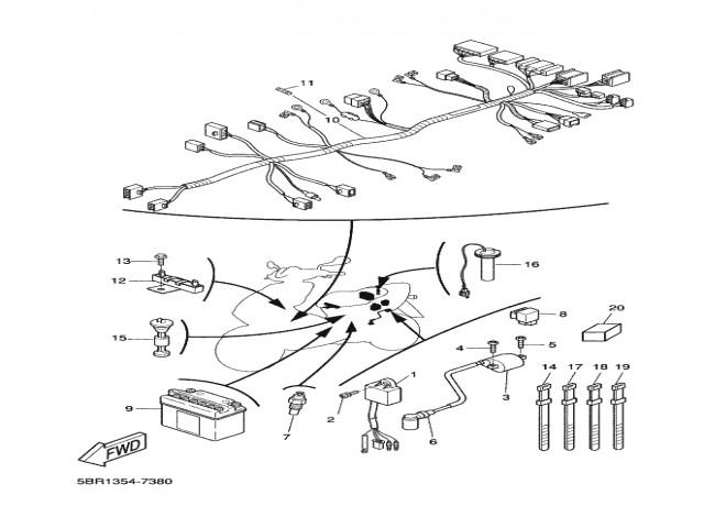 sistema electrico completo yamaha aerox 50 1997