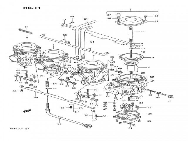 bateria carburadores suzuki bandit 400 1991