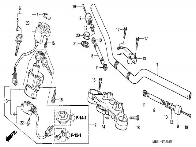 Honda Hornet 600 Ledningsdiagram