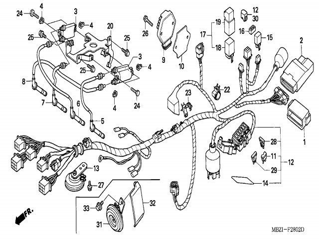 sistema electrico completo honda hornet 600 2005