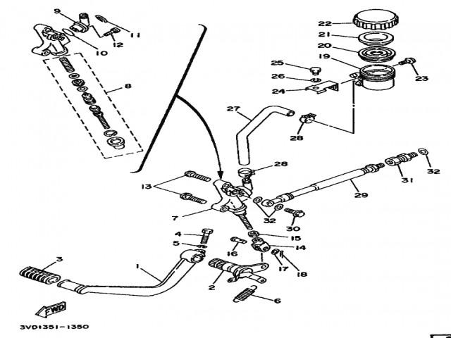 bomba freno trasero yamaha tdm 850 1991