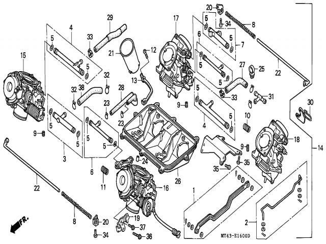 Bateria Carburadores Honda Vfr 750 1990 1993