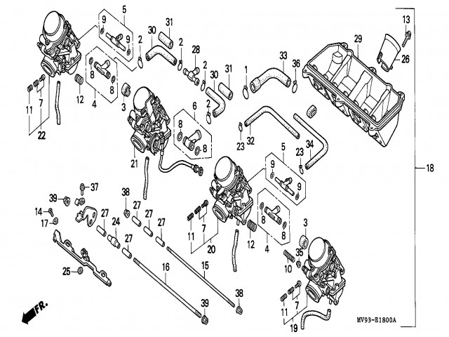 Bateria Carburadores Honda Cbr 600 1991 1996
