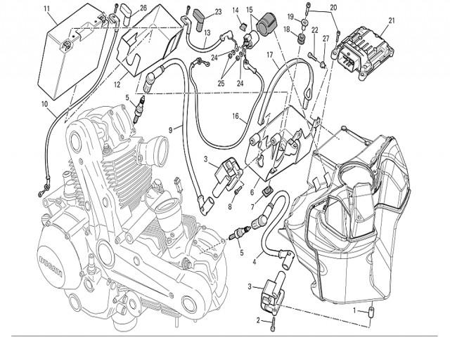 rel arranque ducati monster 696 2008 2011 1996 BMW K75