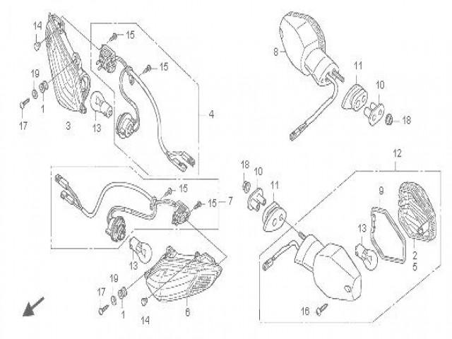 intermitente trasero derecho honda cbr 1000 rr 2008 2012 2008 Honda CBR 1000RR