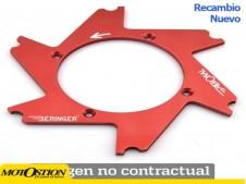 Parte central de disco Aeronal® Derecha con desplazamiento. Acabado CROMADO. (D2RDCH) Centros de disco beringer Centros de disco