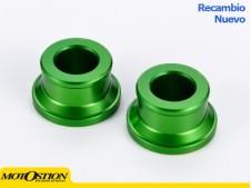Casquillos de rueda delantera Kawasaki Verde Casquillos separadores de rueda Casquillos separadores de rueda