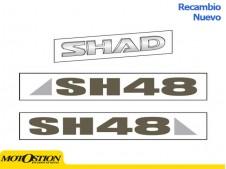 Adhesivos SHAD SH48 GRIS TITANIO Recambios y accesorios Recambios y accesorios