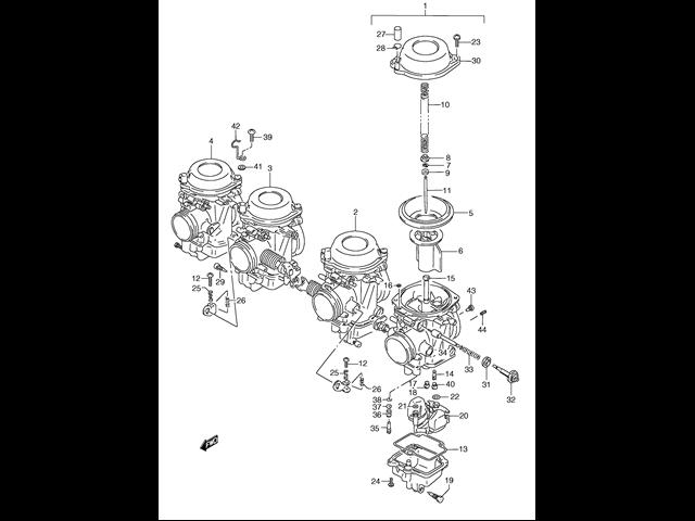 bateria carburadores suzuki gsx f 750 1989