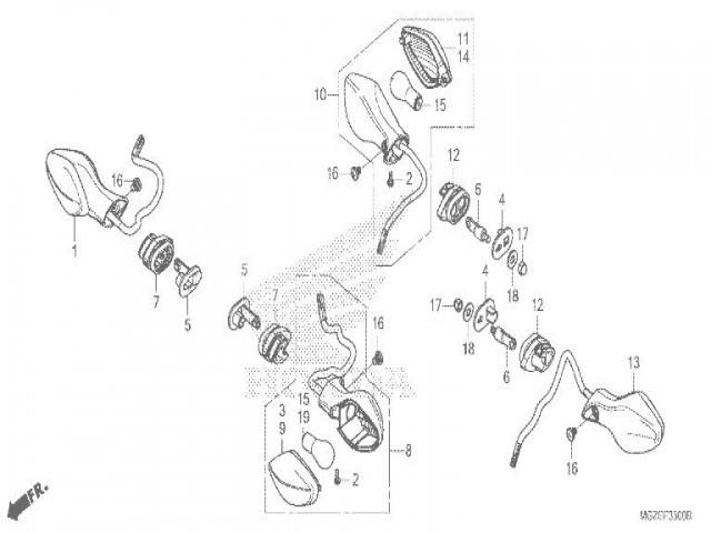 Intermitente Delantero Derecho Honda Cb 500 F Abs 2013