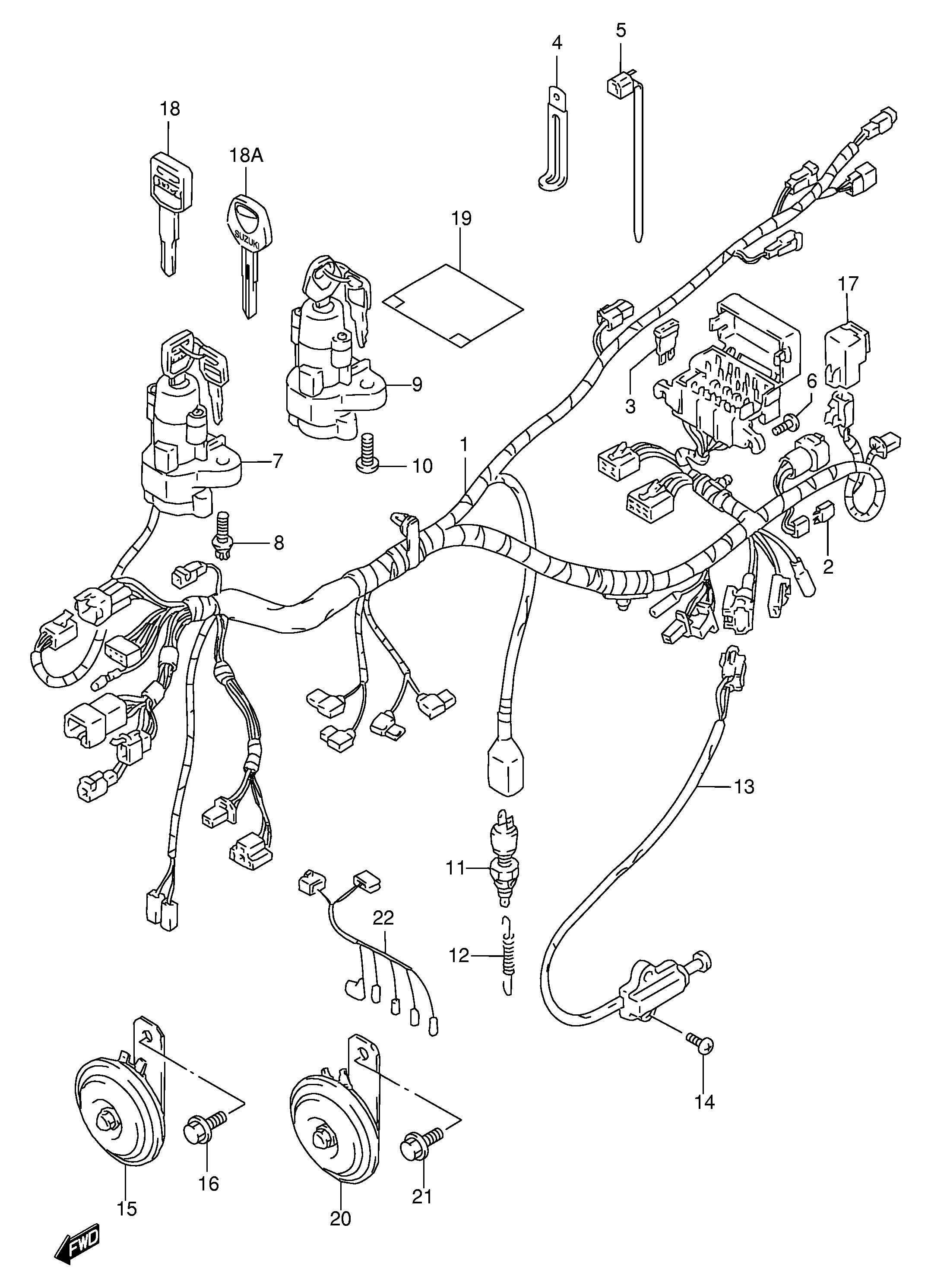 sistema electrico completo suzuki bandit 600s y 600n 1995
