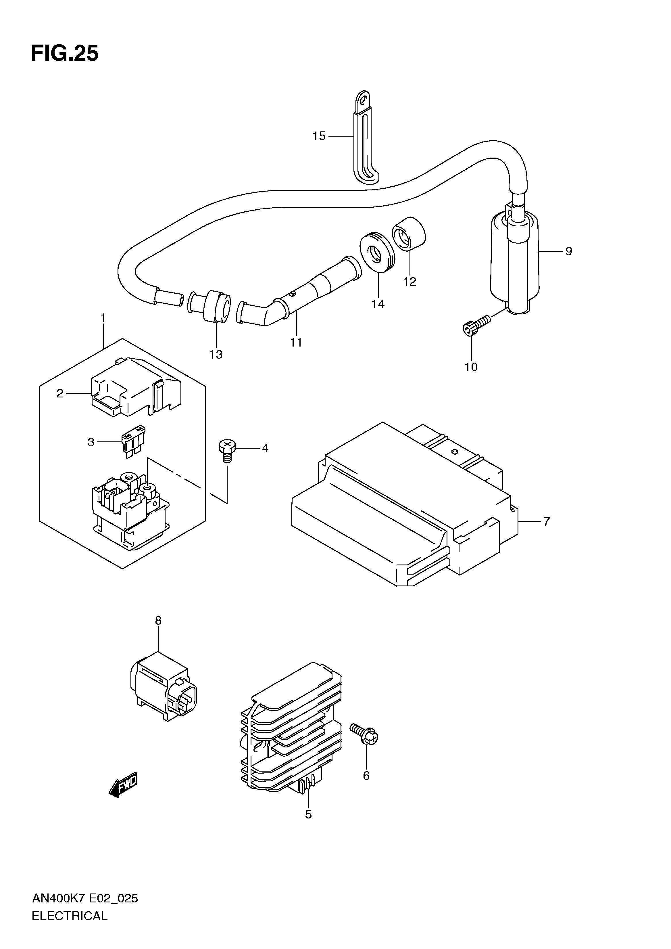sensor anticaida o inclinacion suzuki burgman 400 2007