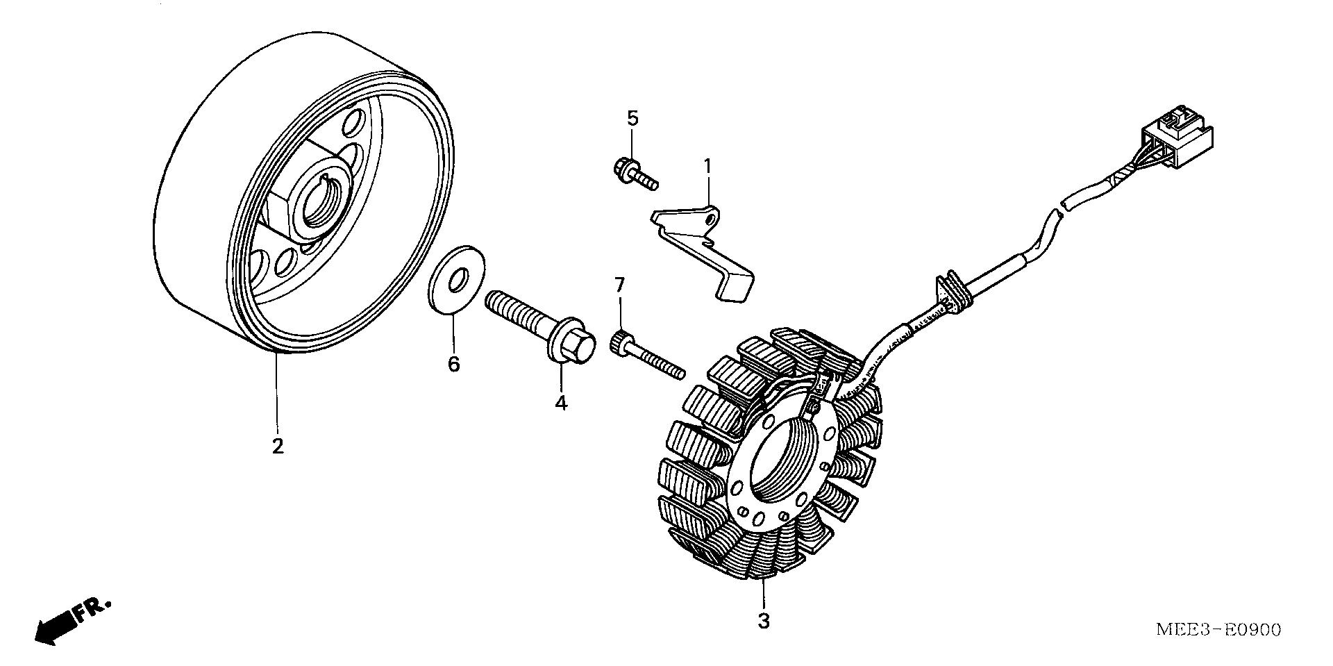 volante magnetico honda cbr 600 rr 2003
