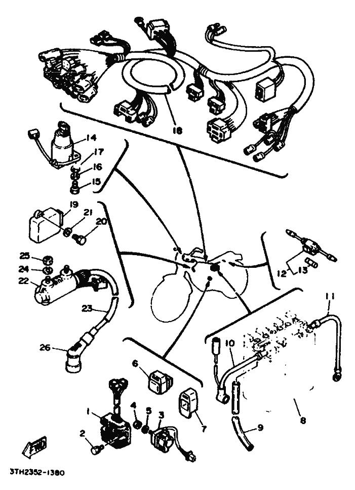 Sistema Electrico Completo Yamaha Sr 250 1980 1989
