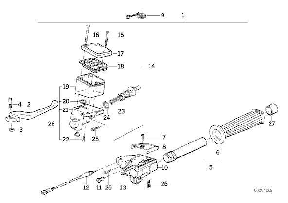 interruptor freno delantero bmw k75 750 cc 1986