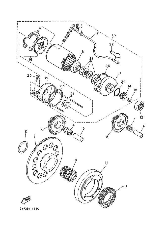 Pion Doble Motor Arranque Yamaha Xt 600 1984 2003