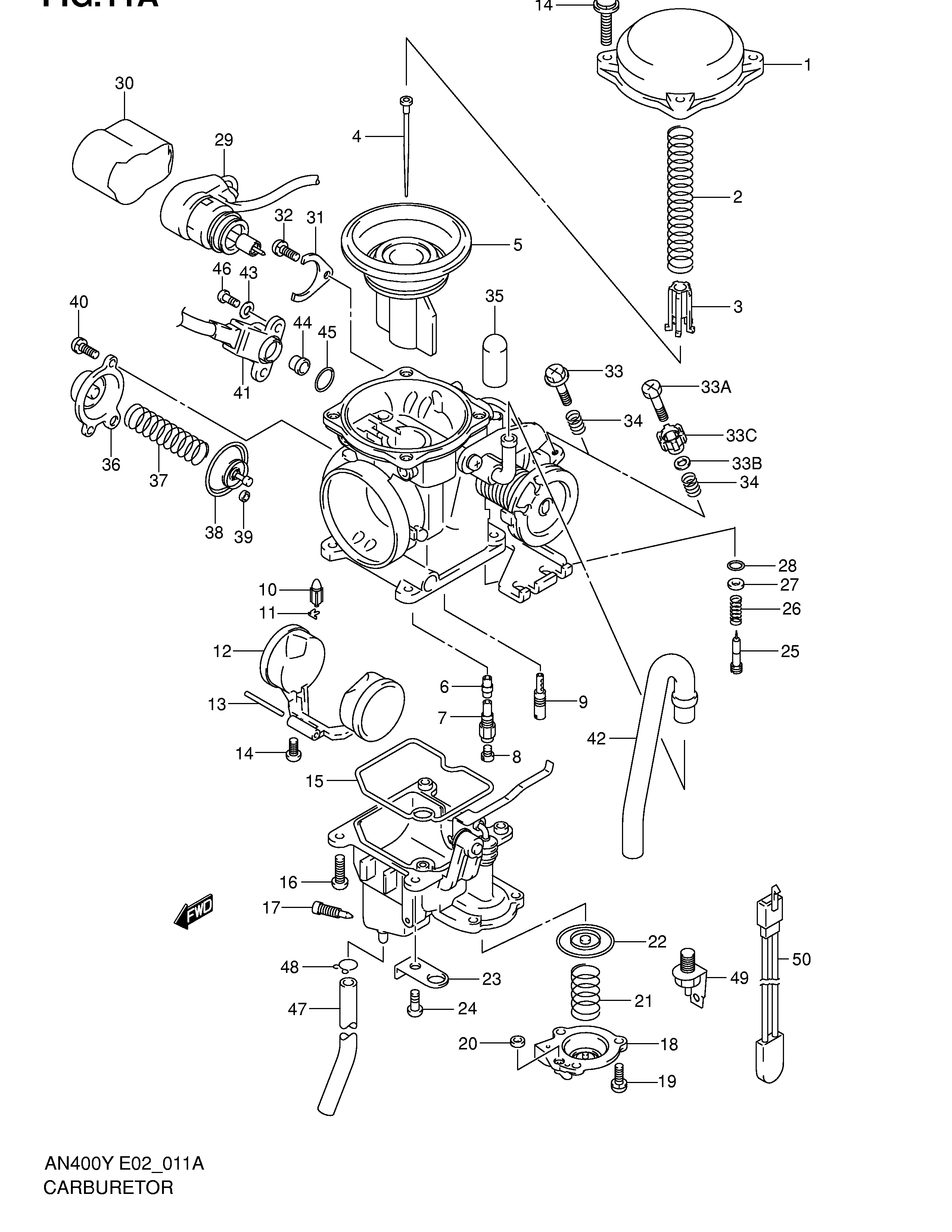 bateria carburadores suzuki burgman 400 1998