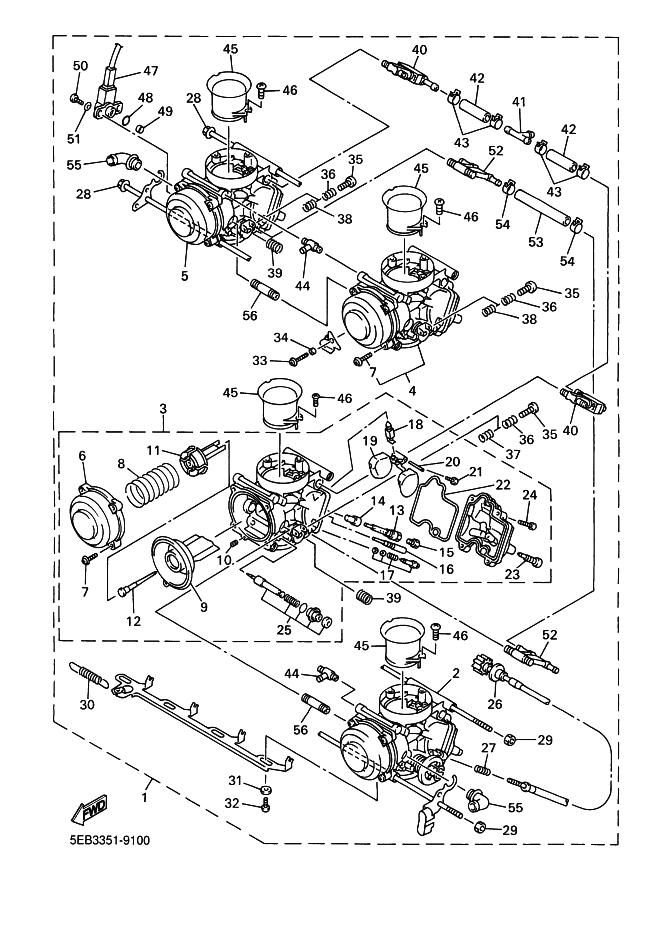 bateria carburadores yamaha r6 600 cc 2001