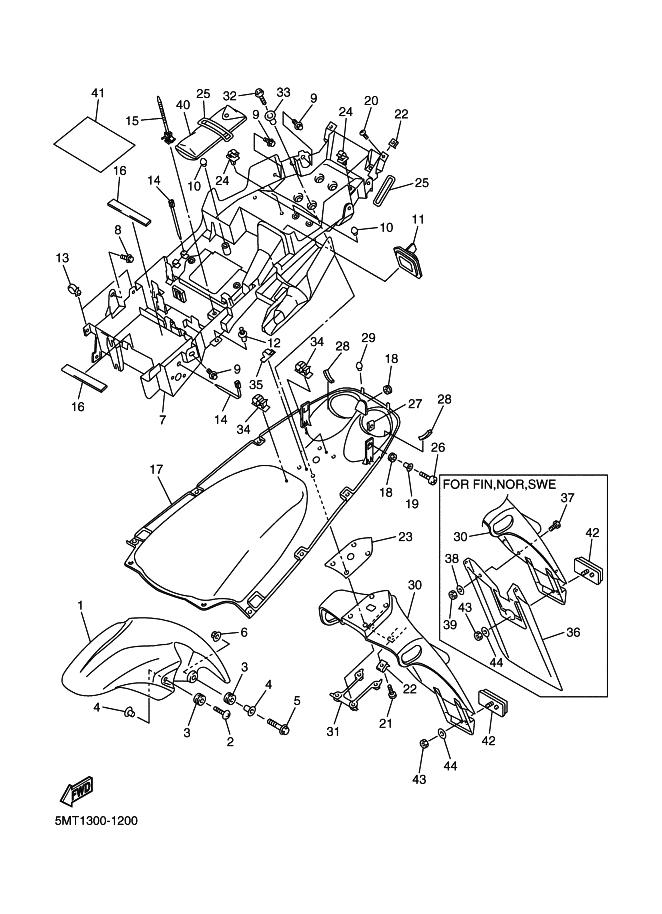 Aleta Porta Matricula Yamaha R6 600 Cc 2001