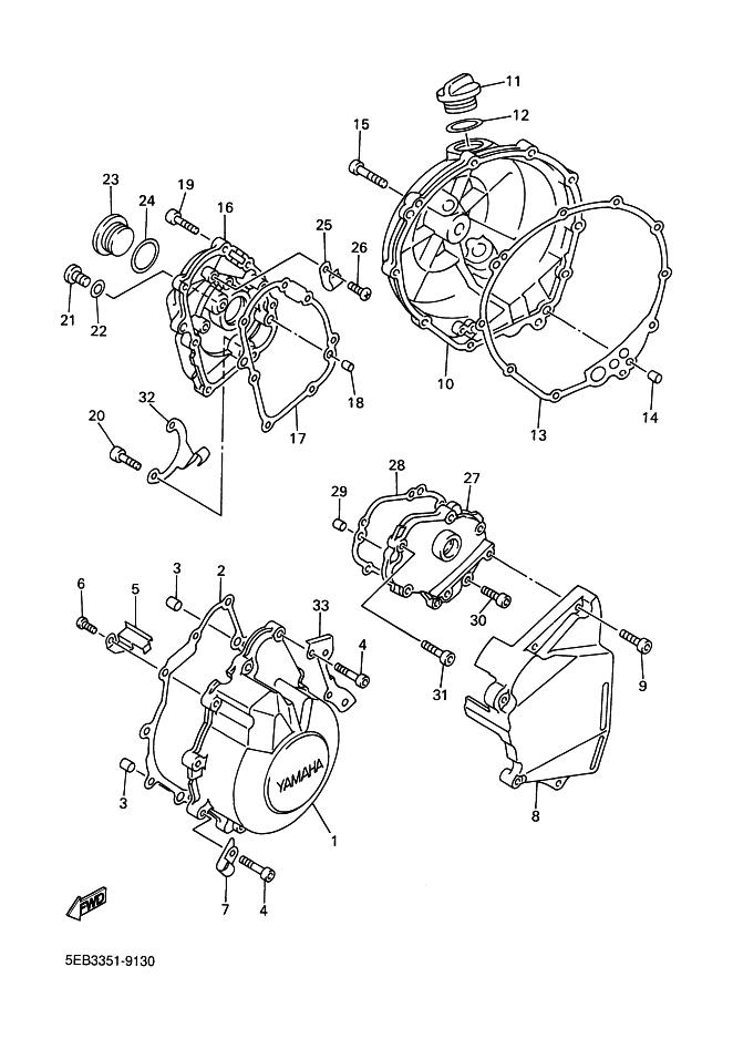 tapa encendido de motor yamaha r6 600 cc 2001
