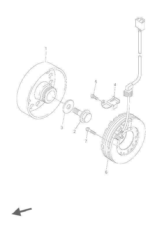 volante magnetico yamaha r6r 600 cc 2006