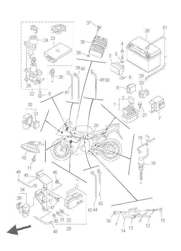 Sistema Electrico Completo Yamaha R1 1000 Cc 2007